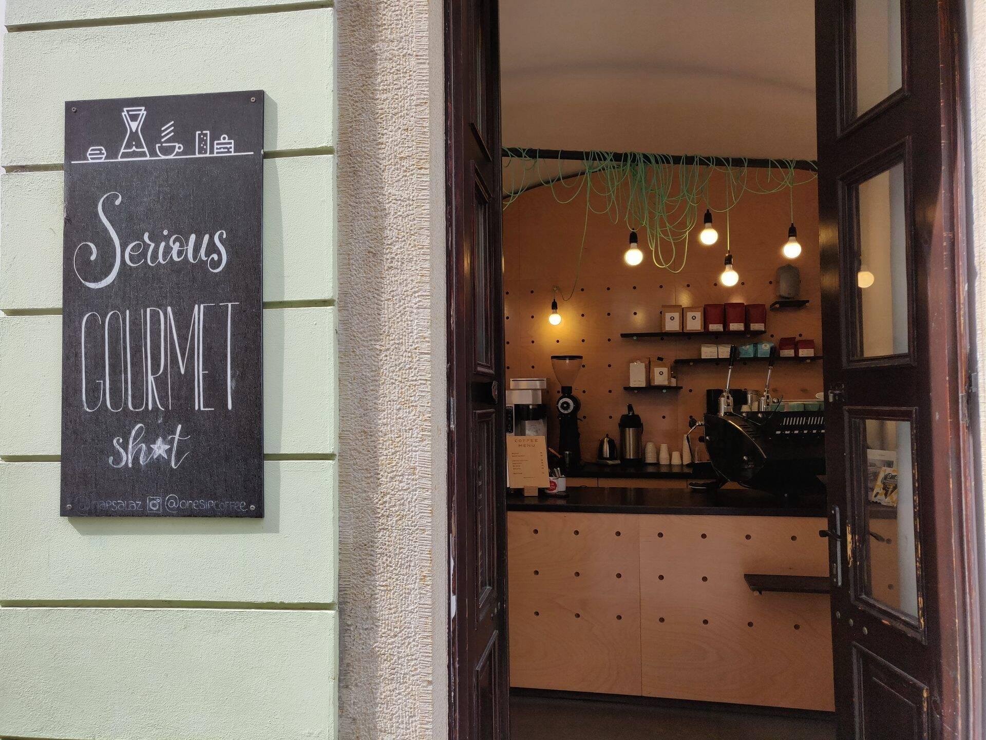 Onesip coffee in Praag