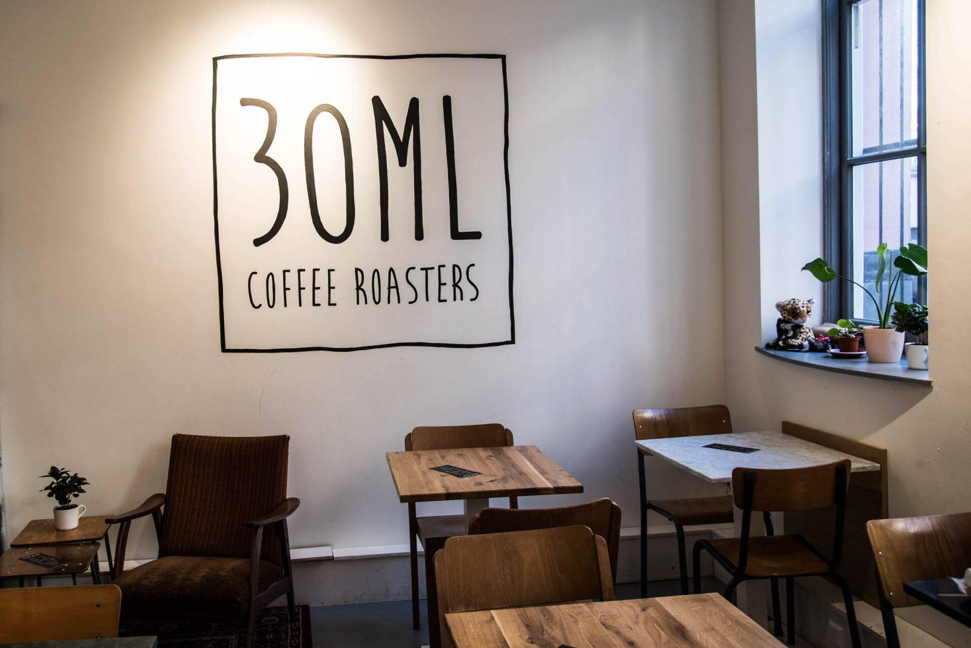 30 ML Coffee Roasters Zadelstraat in Utrecht