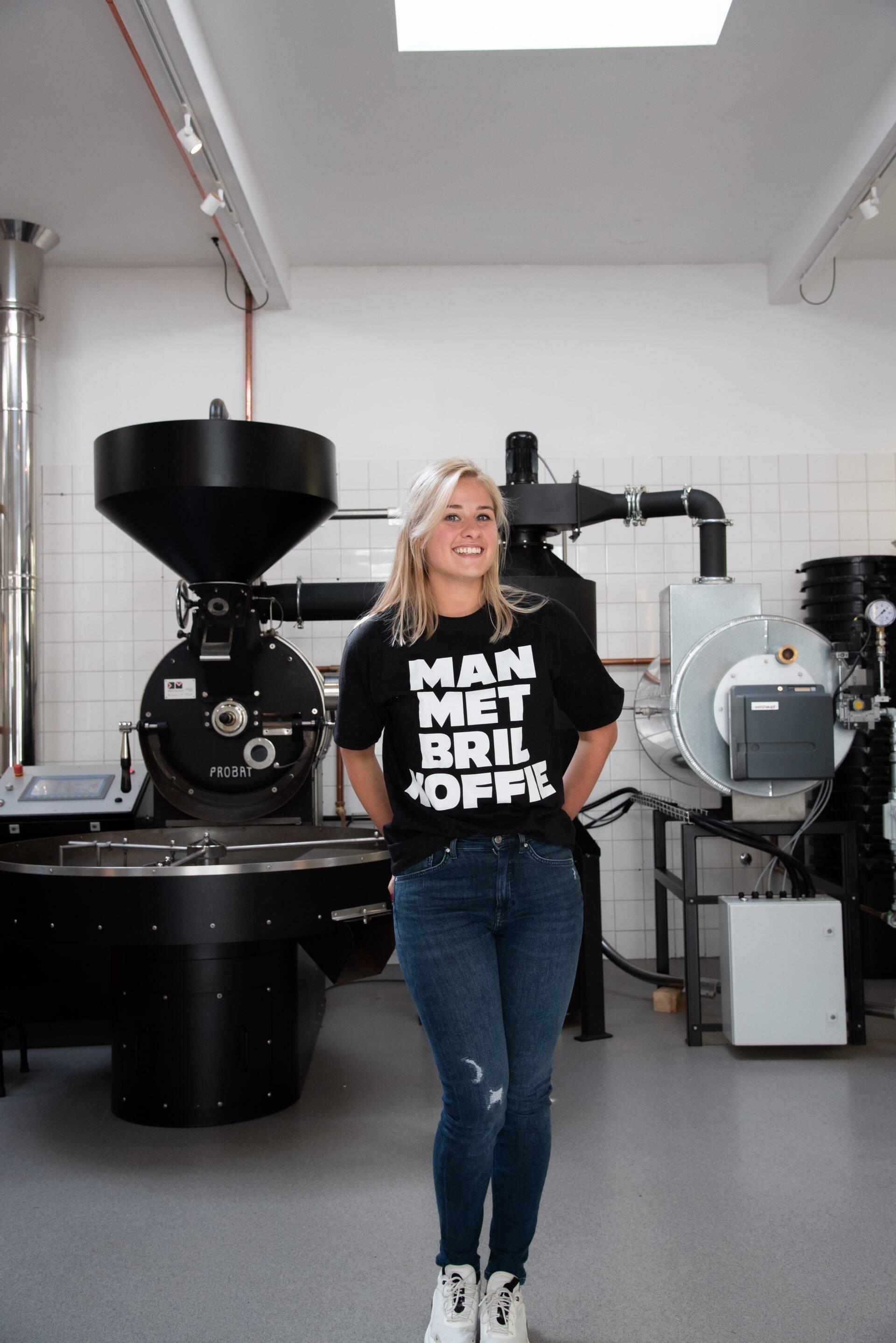 Man met Bril koffie in Rotterdam