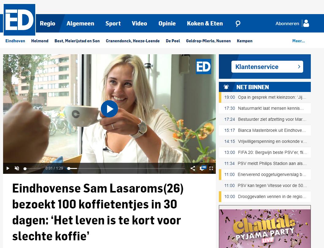 Interview met Eindhovens Dagblad over de koffiemarathon