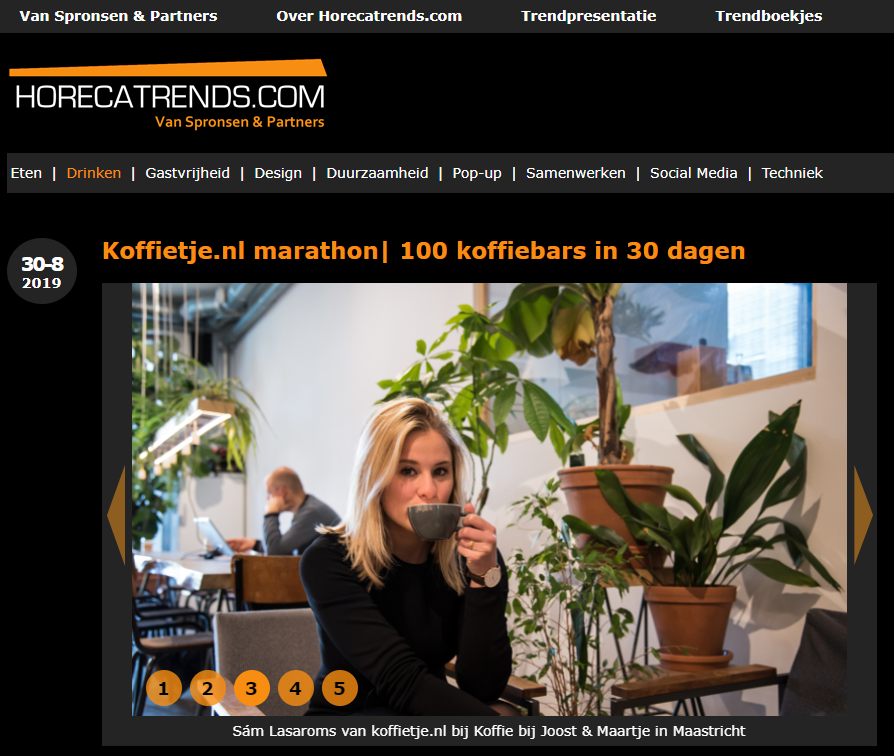 Interview met Horecatrends.com over de koffiemarathon