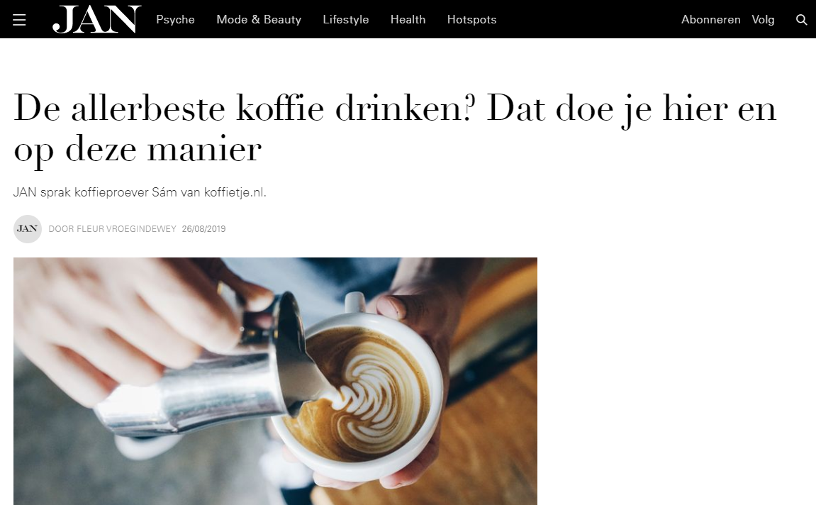 Interview met Jan Magazine over de koffiemarathon