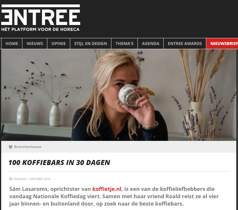 Interview met Entree Magazine over de koffiemarathon