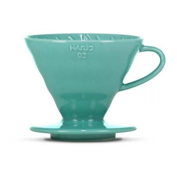 Hario VDC-02-TQ-UEX V60 Ceramic Dripper 02 / Turquoise Green